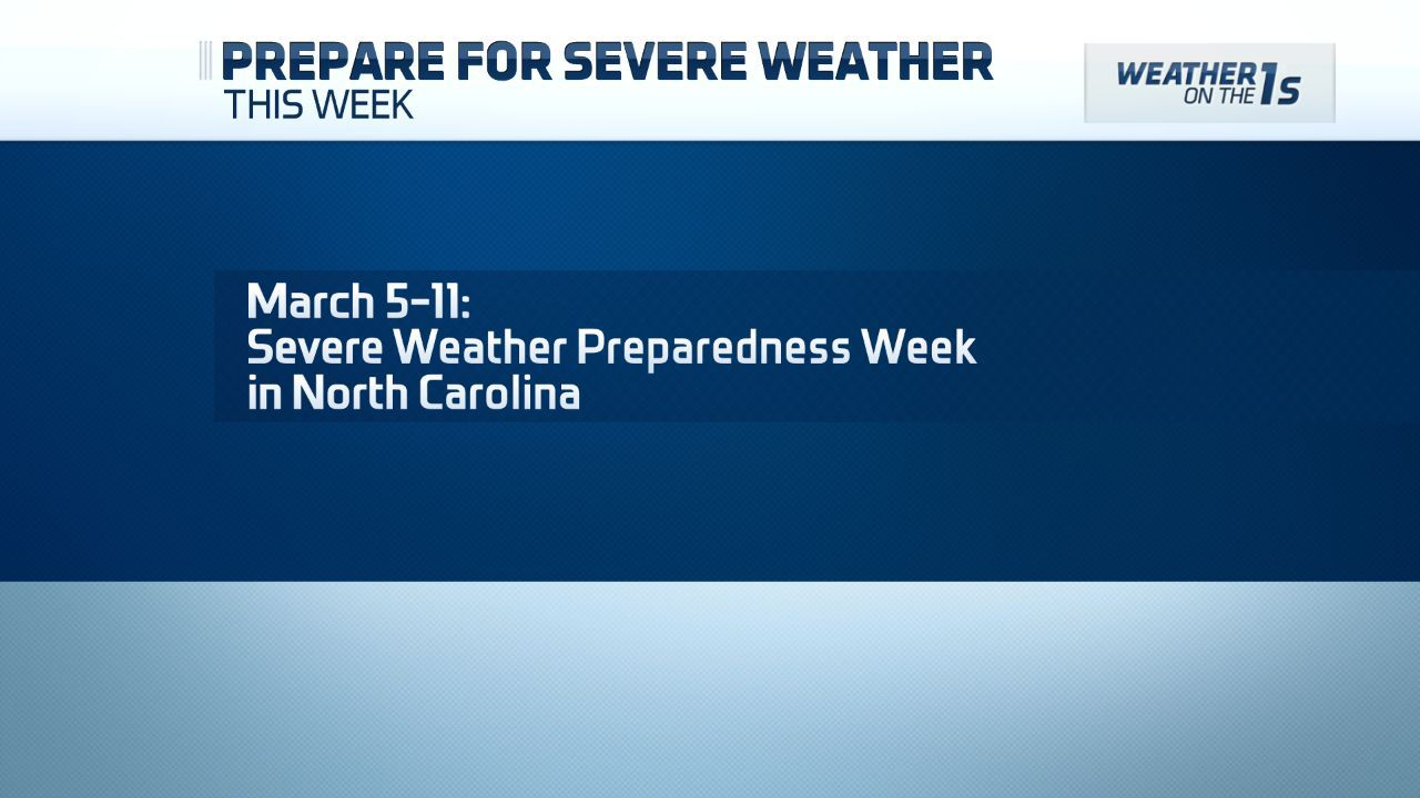 WEATHER WATCH: Severe Weather Preparedness Week in the Carolinas