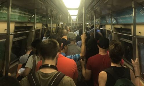 Riders trapped inside subway after track fire snarls morning commute