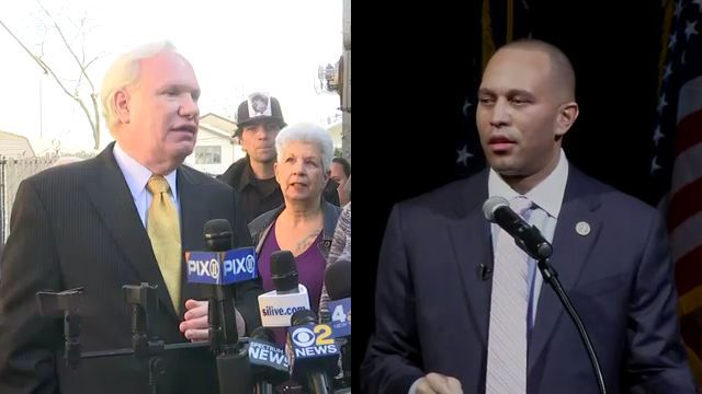 One of Mayor's Rivals Stumps with Pig on Staten Island; Another Potential Challenger Delivers State of District Speech