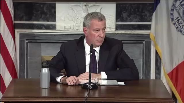 De Blasio: Keep protesting, Trump has no mandate