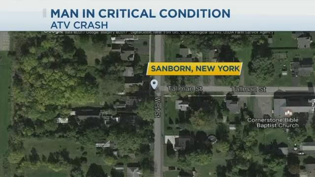 Man in Critical Condition Following ATV Crash in Sanborn