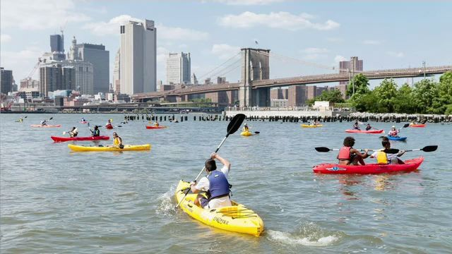 Brooklyn Bridge Park offers Hundreds of Ways to Get Outdoors, Including Kayaking Under the Bridge