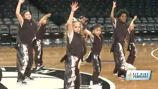 Fit Kids: Nets Kids Dancers Get Into a Healthy Groove