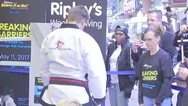 Breaking Boards, Barriers and Possibly World Record in Times Square