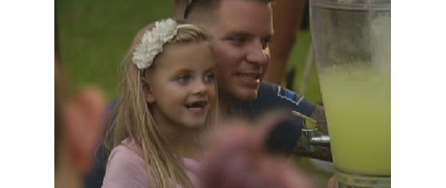 Delmar Girl Presents Officer Nick Colaneri with Check for Medical Bills