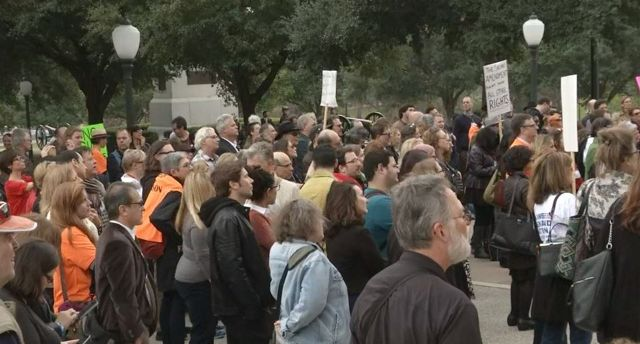 Hundreds March to State Capitol Protesting Campus Carry Legislation
