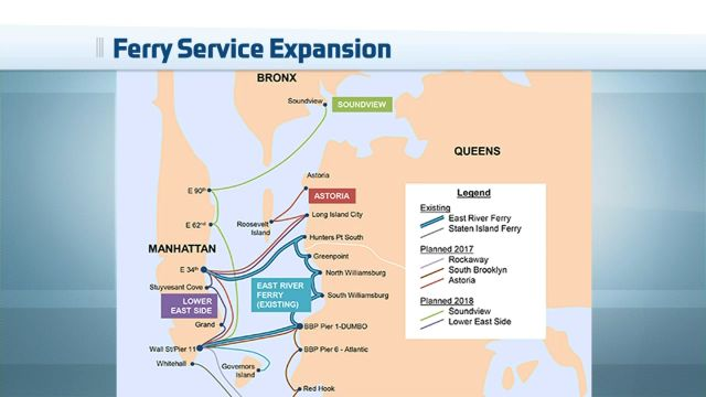 EDC Unveils Maps of Routes for New Citywide Ferry Service