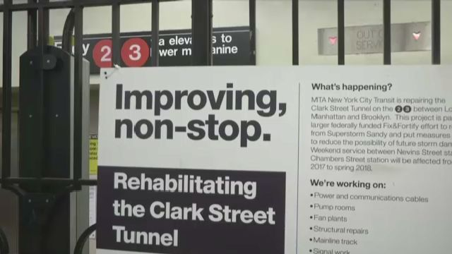 Clark Street Subway Tunnel Repairs Begin