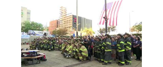 Hundreds Honor 9/11 Victims in First Stair Climb