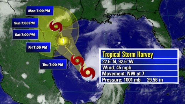 Evacuations as Hurricane Harvey bears down