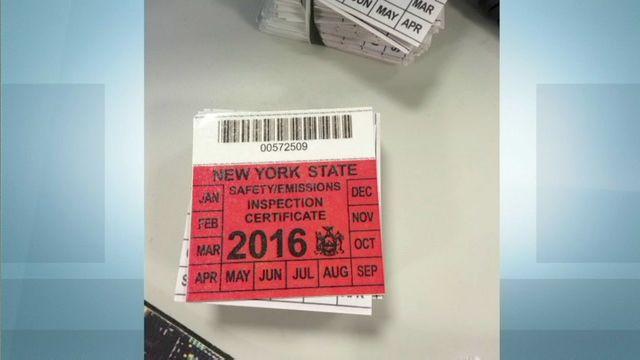 Garbage Truck Inspection Sticker 2