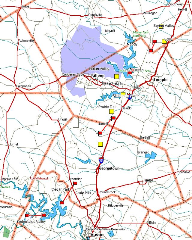 Jarrell Tornado Map