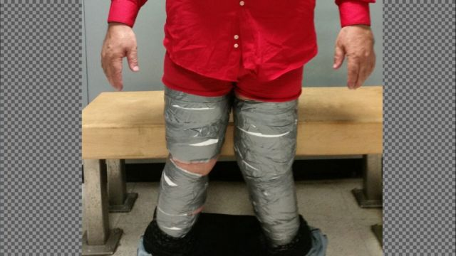Cocaine found hidden under trousers at JFK - again