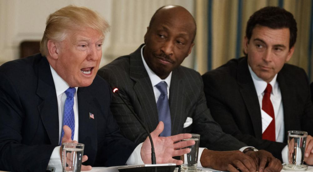 Merck CEO resigns from Donald Trump's council over Charlottesville