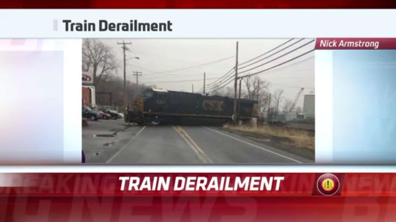 Freight Train Derails in Newburgh