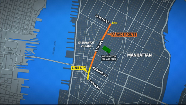 New York's Halloween Parade Route