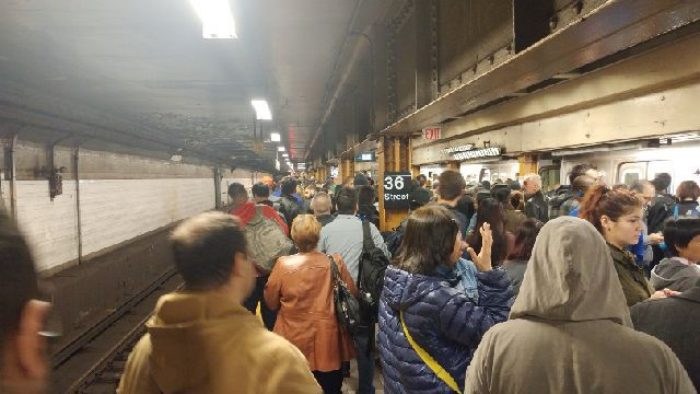 Subway service disrupted by power problems at station in Brooklyn