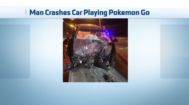 Car Crash Attributed in Part to Pokemon Go