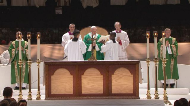 Pope Francis Presides Over Mass at Madison Square Garden