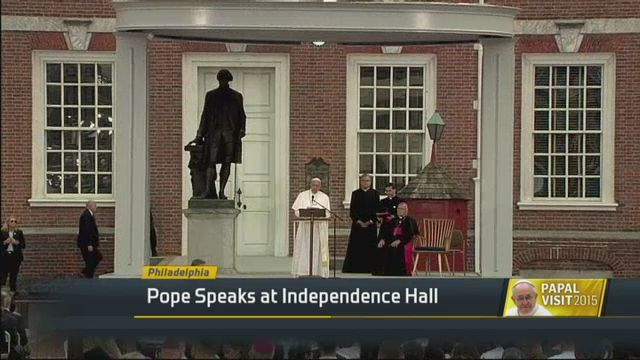 TWC News Online: Pope Francis Delivers Independence Hall Address