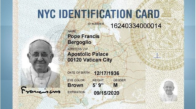 Pope Francis Gets His Own Municipal NYC ID Card