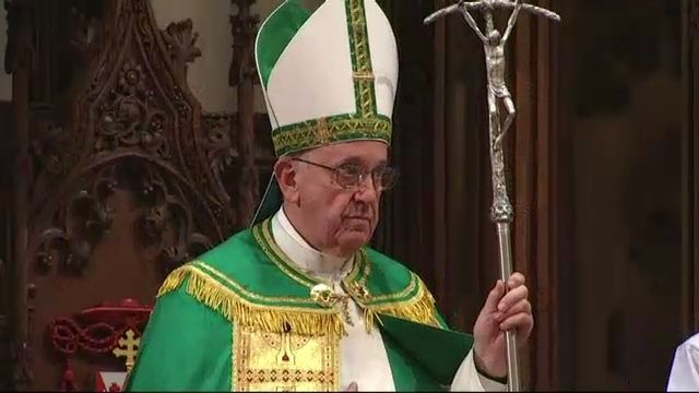 TWC News Online: Pope Francis Celebrates Evening Prayers at NYC's St. Patrick's Cathedral