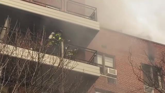 Raw video from FDNY 5th alarm in Queens apartment building