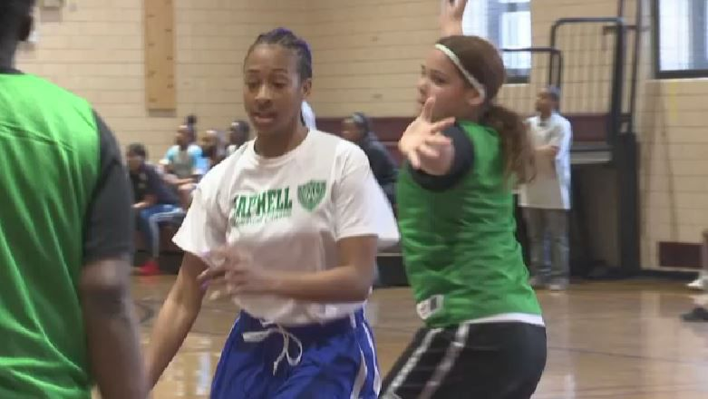 Girls Show Off Hoops Skills at Police Athletic League Tourney