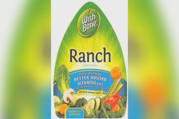 Wishbone Ranch Dressing Issued For Ranch Dressing