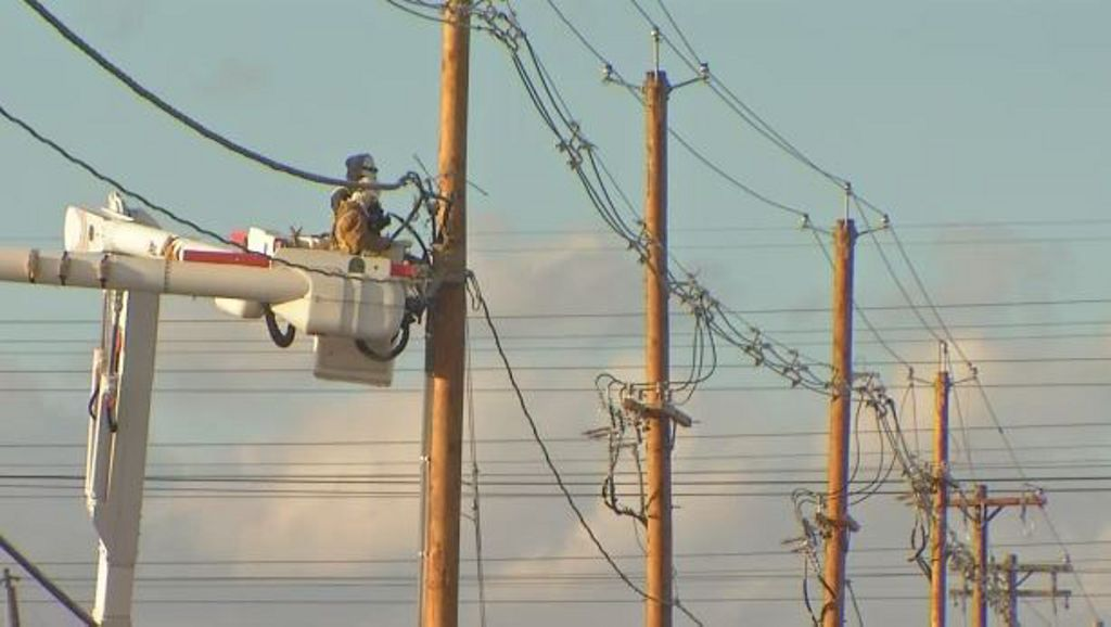 Chili epicenter of early afternoon power outages