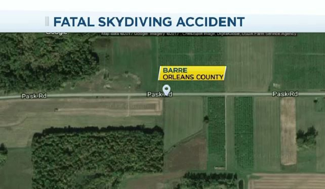 Skydiver killed in accident in Orleans County