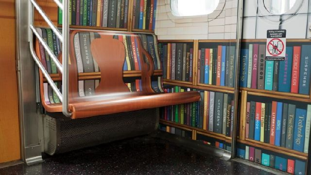 Image result for new york subway library