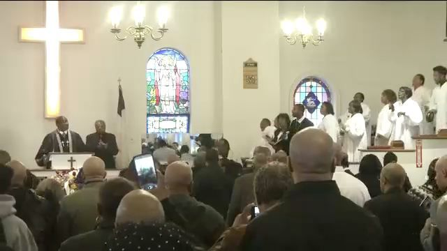 Mayor Joins Family and Friends of Alleged Hate Crime Victim Timothy Caughman at his Funeral Saturday
