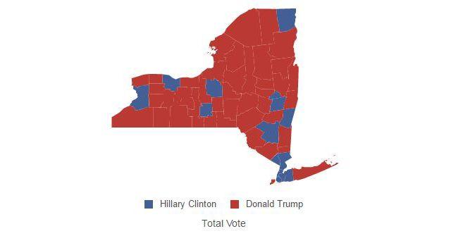 Trump Takes Upstate New York Counties