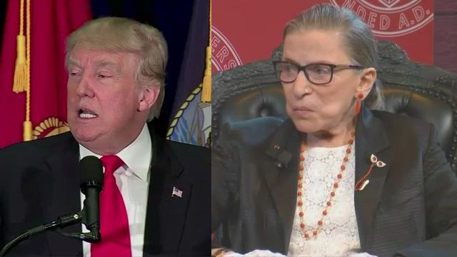 Ginsburg Regrets Comments Made About Trump
