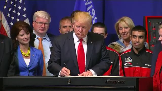 Trump Signs 'Buy American, Hire American' Executive Order