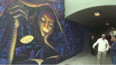Queens Pedestrian Tunnel Beautified by Students With Mural