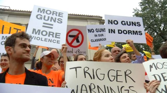 Anti-Gun Rally Fights Campus Carry Law