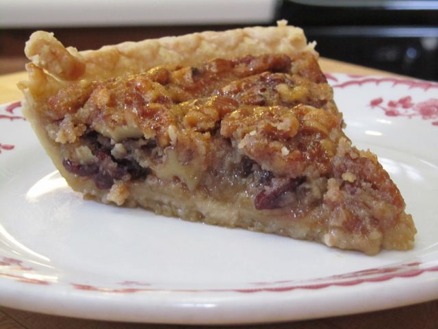 Cranberry Maple Walnut Bourbon Pie