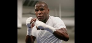 Boxer Floyd Mayweather Jr. trains during a media workout in Las Vegas, Wednesday, Nov. 28, 2007. May