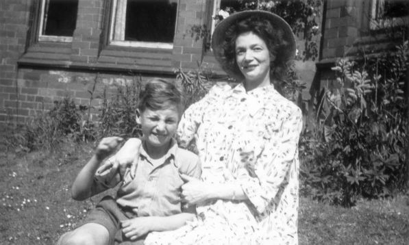 John Lennon with his mother, Julia at Ardmore, Rockferry, Cheshire