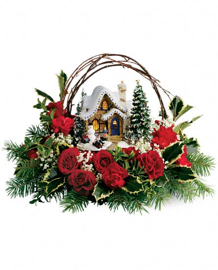 Thomas Kinkade's Cozy Christmas Flowers