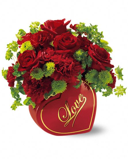 Teleflora's From The Heart Bouquet Flowers