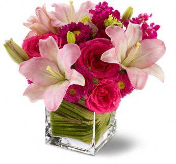 Teleflora's Posh Pinks Flowers, Teleflora's Posh Pinks Flower Bouquet - Teleflora.com