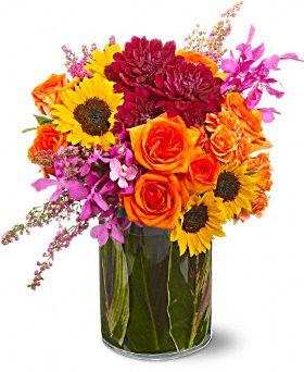 Summer Salsa Flowers, Summer Salsa Flower Bouquet - Teleflora.com