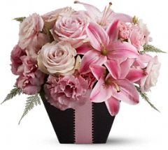 At First Blush Flowers, At First Blush Flower Bouquet - Teleflora.com :  flower pink lily roses