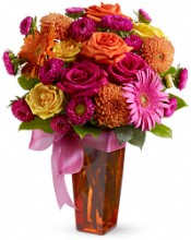 Pink, Orange and Yellow Mothers Day Fower Bouquet