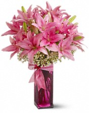 Pink Mothers Day Lily Arrangement  Telefloras Pretty Pink Lilies