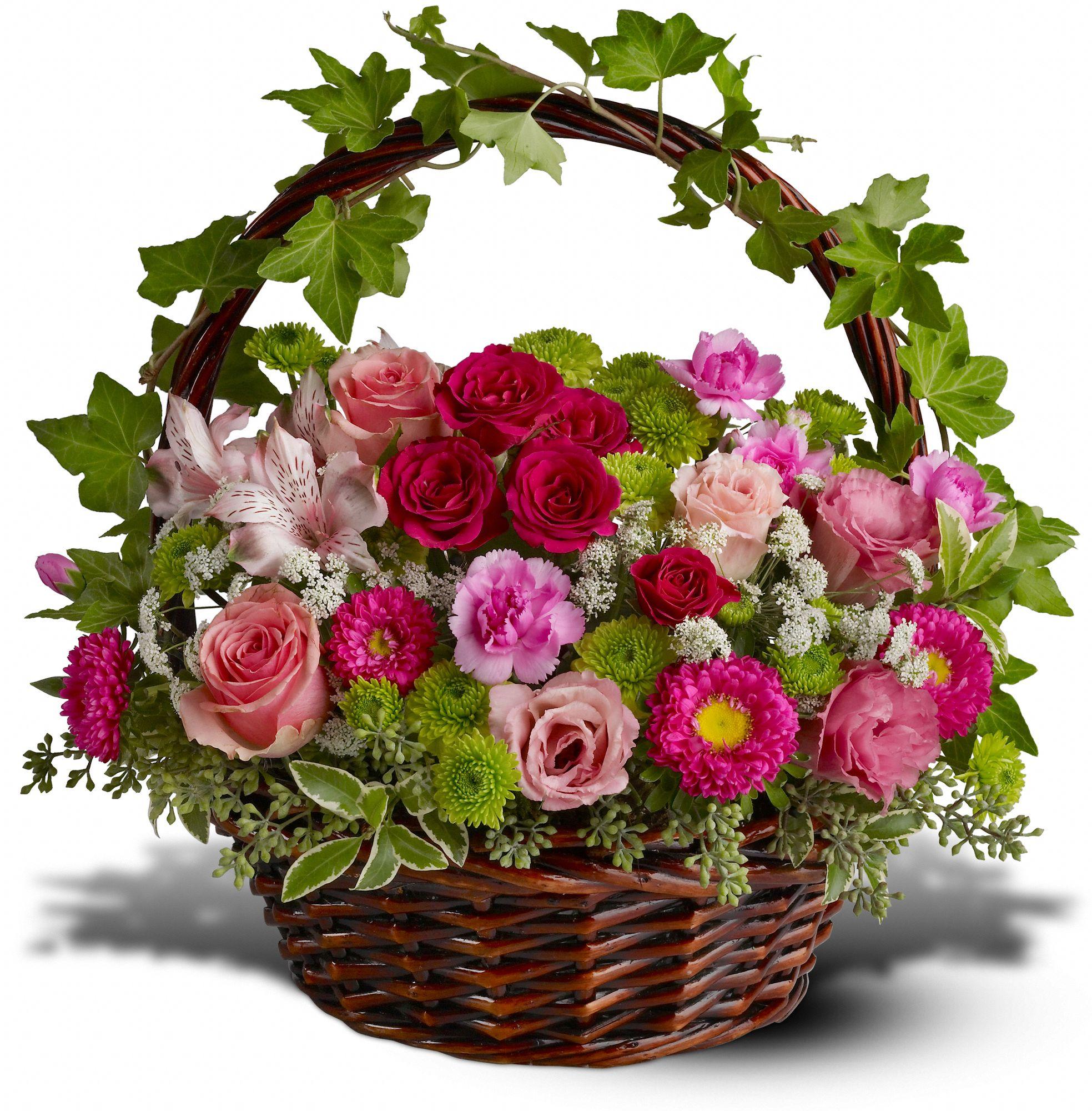 Flower Gift Basket - Victorian Garden