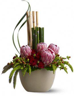 Zen Protea Flowers, Zen Protea Flower Bouquet - Teleflora.com :  pink zen protea flowers bouquet protea